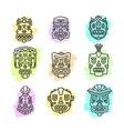 set of ethnic tribal colorful masks isola vector image