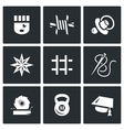 Set of Prison Icons Prisoner Isolation vector image vector image