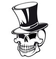 Skull in hat vector | Price: 1 Credit (USD $1)