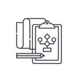 solution of the problem line icon concept vector image vector image