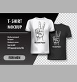 t-shirt template fully editable peace gesture vector image vector image