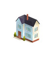 two-storey family house isolated vector image vector image