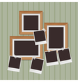 wooden photo frames vector image