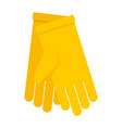yellow gloves icon flat style vector image