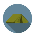 Flat design modern of tent icon camping and hiking vector image