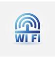 WiFi blue icon vector image