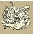 of music spirit vector image