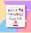 2018 back to school sale banner template vector image