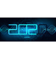 2020 technology banner vector image vector image