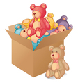 A box full of toys vector image vector image