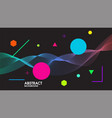 abstract black background with dynamic linear vector image vector image