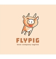 Abstract pig monster logo icon concept Logotype