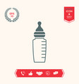 baby feeding bottle icon vector image vector image