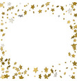 background with shiny gold stars golden confetti vector image vector image