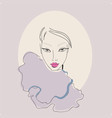 beautiful stylish young woman with perfect make-up vector image