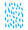 blue rain tears falling down symbol icon design vector image
