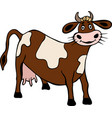 brown cow with spots vector image vector image