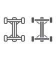 chassis line and glyph icon car and part auto vector image vector image