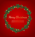 christmas background with fir branches realistic vector image