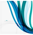 Clean blue wave lines on white vector image vector image