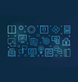 content outline blue horizontal banner or vector image