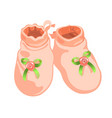 cute pink babooties for girl realistic vector image