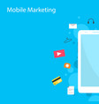 design style mobile marketing collection vector image vector image