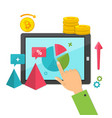 digital marketing online business concept vector image
