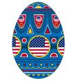 egg USA vector image vector image