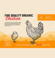 fine quality organic poultry abstract meat vector image