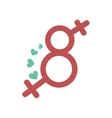 flat icon on white background Eight female sign vector image vector image