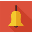 Flat Ringing Bell with long Shadow vector image vector image
