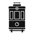 front view tram icon simple style vector image