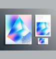gradient geometric design set for brochure flyer vector image vector image