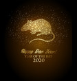 happy new year 2020 background year rat vector image vector image
