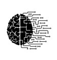 human brain is abstract hemisphere vector image