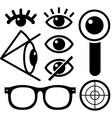 Human eye icons black vector image