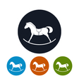 Icon of a Rocking Horse vector image