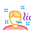 illness man icon outline vector image vector image