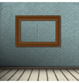 Interior of vintage room with frame on wall vector image vector image