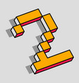 isometric 2 number vector image