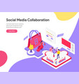 landing page template social media vector image