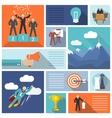 Leadership icons flat set vector image vector image