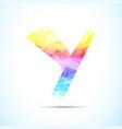 letter y logo icon vector image