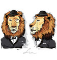 lion dressed as human vector image vector image