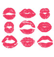lipstick kiss sexy woman red lips print vector image