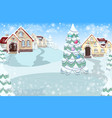 marry christmas cover art happy new year vector image