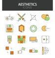 modern thin line flat design icons set vector image vector image
