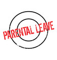 parental leave rubber stamp vector image vector image