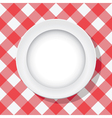 picnic tablecloth and a plate vector image